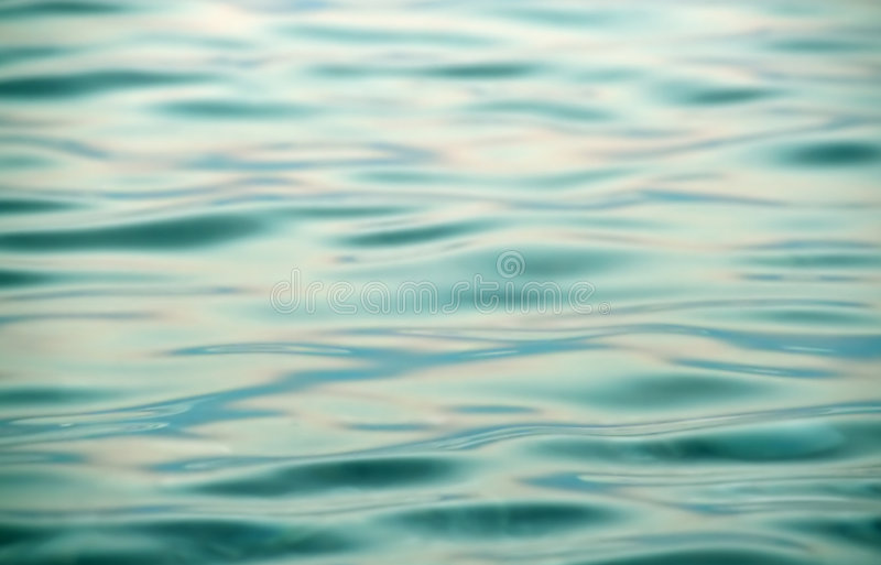 Blue Metallic Waters Royalty Free Stock Photography