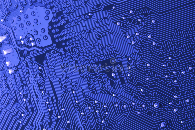 Blue Microcircuit Stock Images