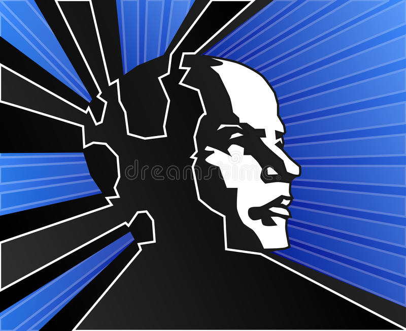 Download Blue mind power stock vector. Image of meditation, intellect - 14869315