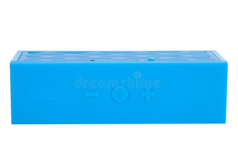 Download Blue mini portable speaker stock photo. Image of digital - 83700886