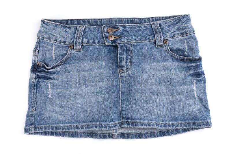 Download Blue Mini Skirt stock image. Image of jeans, white, mini - 9025683