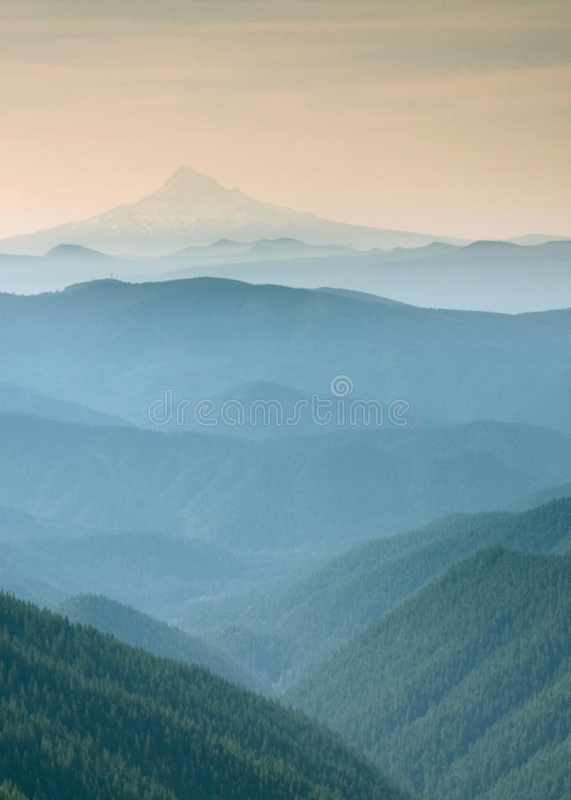 Free Blue Misty View Of Mt Adams Stock Photography - 50307022