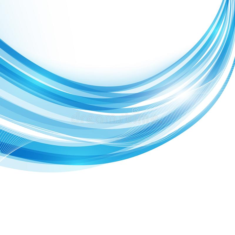 Free Blue Modern Abstract Lines Swoosh Certificate. Vector Illustration Royalty Free Stock Image - 107401576