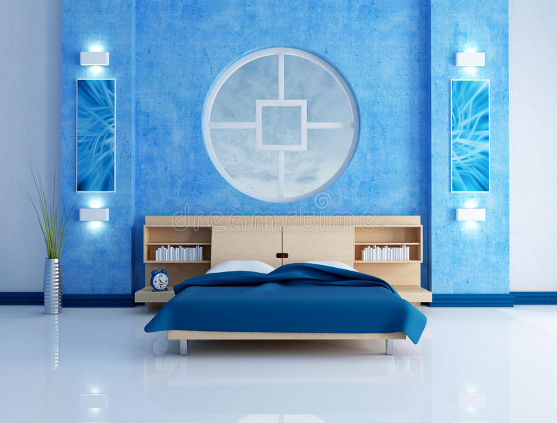 modern blue bedroom blue modern bedroom stock illustration illustration of frame 13859684 2581