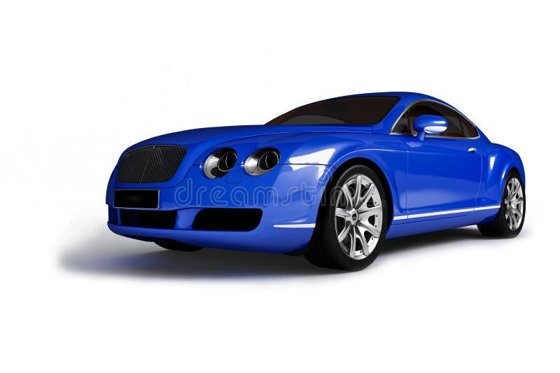 Blue modern car vector illustration