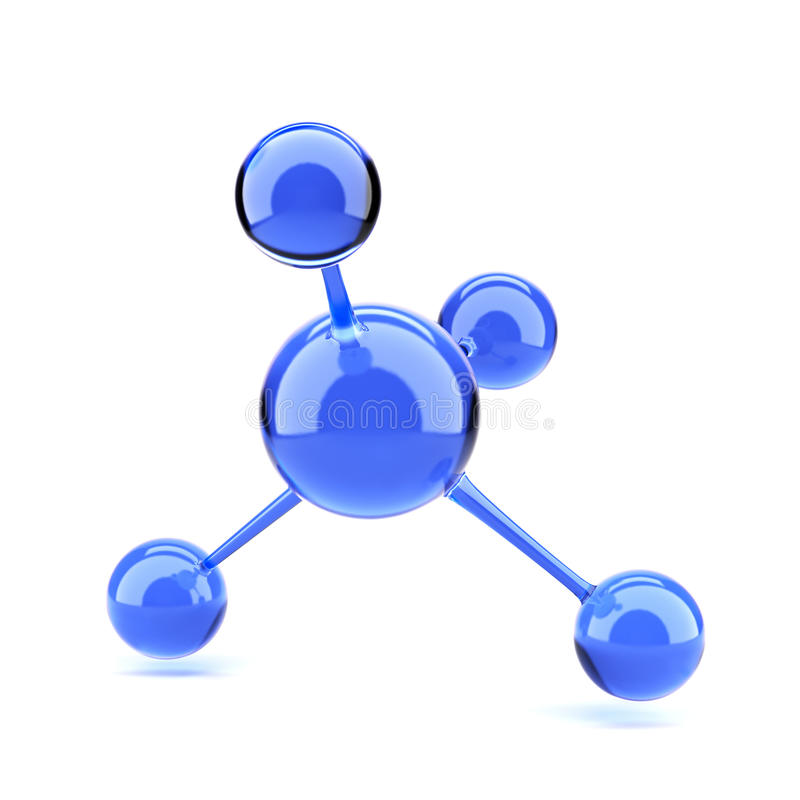 Blue molecule stock illustration