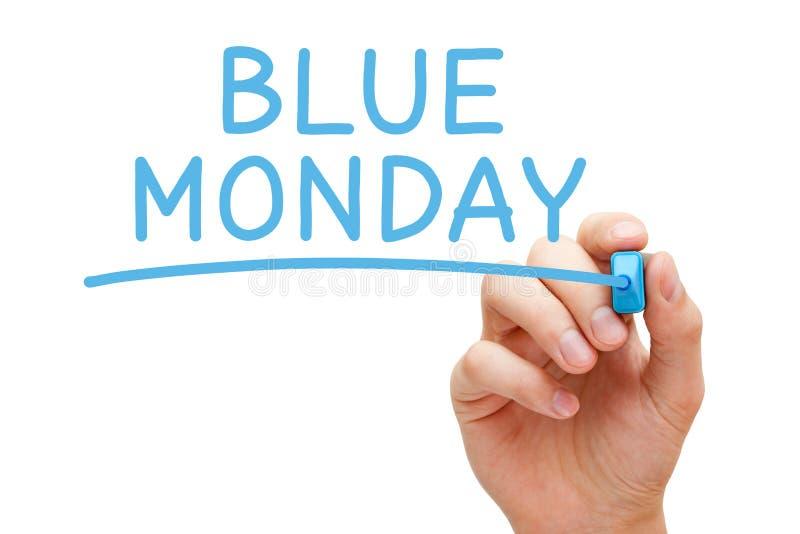 Blue Monday Przygnębiający dzień obraz stock