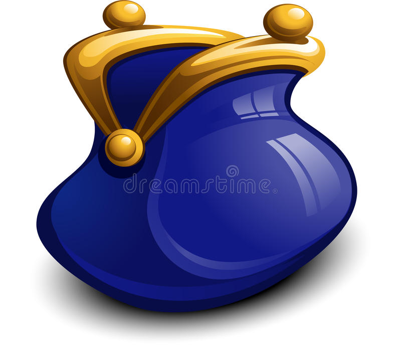 Free Blue Money Purse Stock Images - 19124684