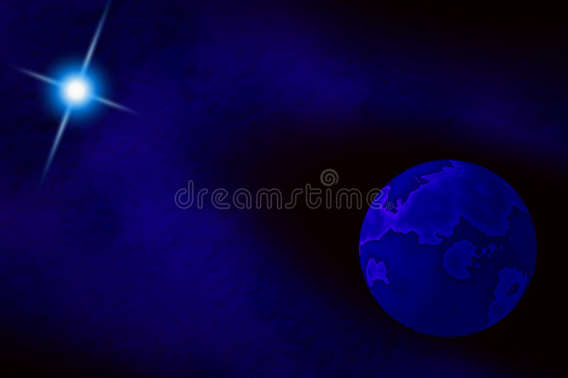 Blue Moon royalty free illustration