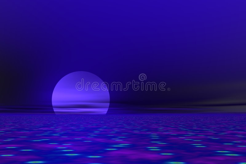 Download Blue moon stock illustration. Illustration of circuit, digital - 881333