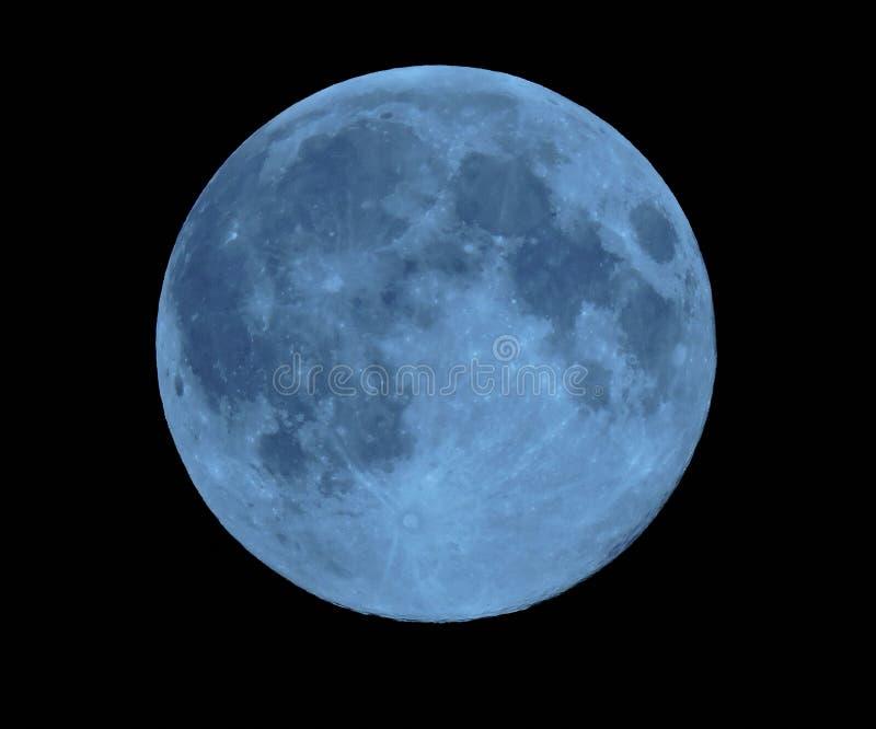Blue moon royalty free stock image