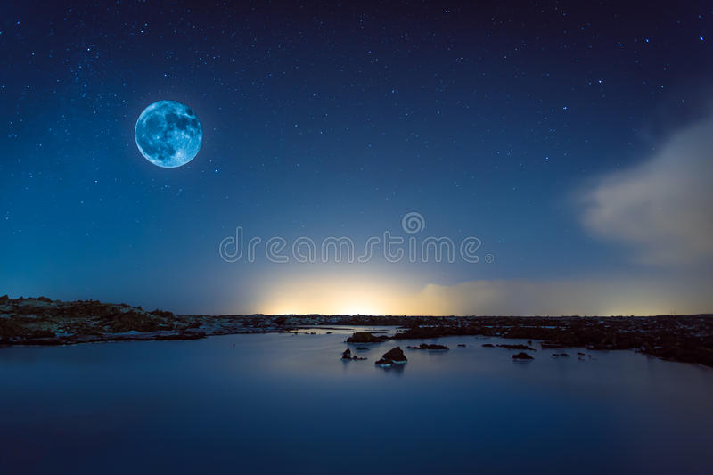 Download Blue moon stock photo. Image of artwork, star, nature - 36313998