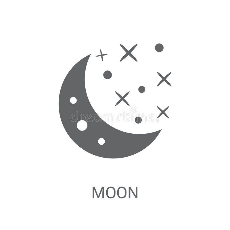 Blue Moon-pictogram  stock illustratie