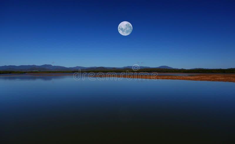 Blue Moon Sky stock photography
