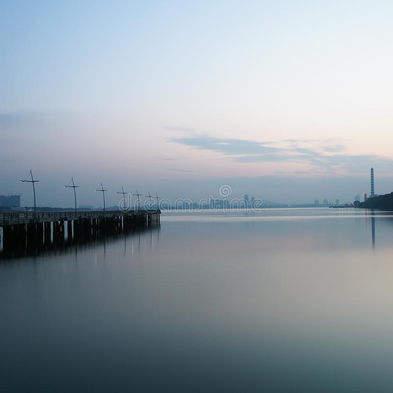 Blue morning stock photography