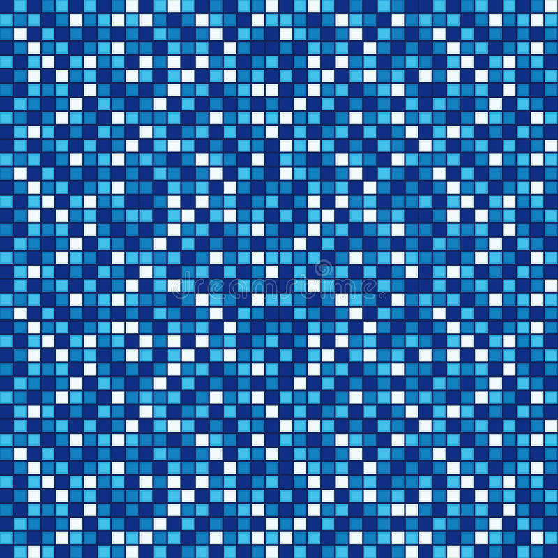 Blue mosaic royalty free illustration