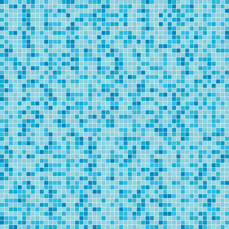 Blue mosaic background (Vector) stock photo