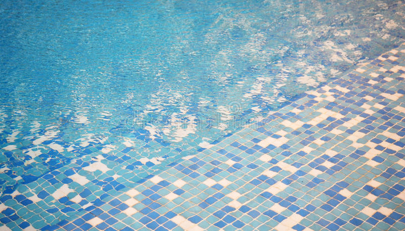 Blue mosaic swimming pool background stock photo image for Zwembad tegels