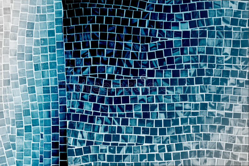 download blue mosaic tile wall stock photo image