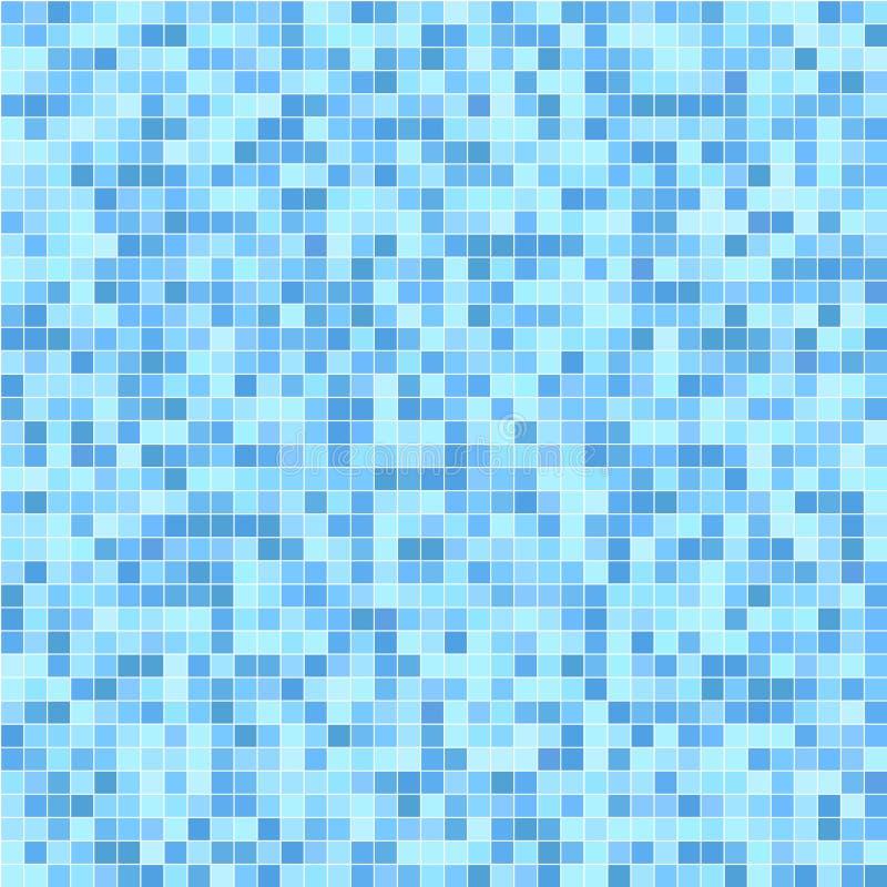Blue mosaic tiles. Seamless pattern vector illustration