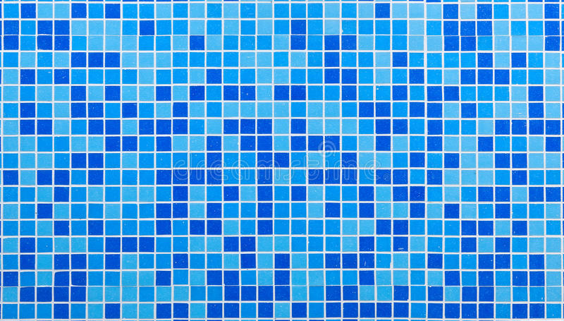 Blue mosaic tiles royalty free stock photos