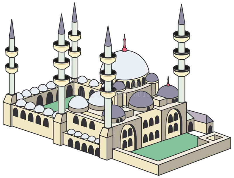 Blue Mosque royalty free illustration