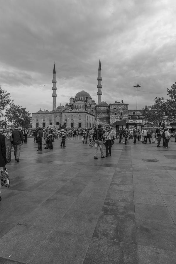 Download Blue Mosque In Black And White Editorial Stock Photo - Image: 37777053