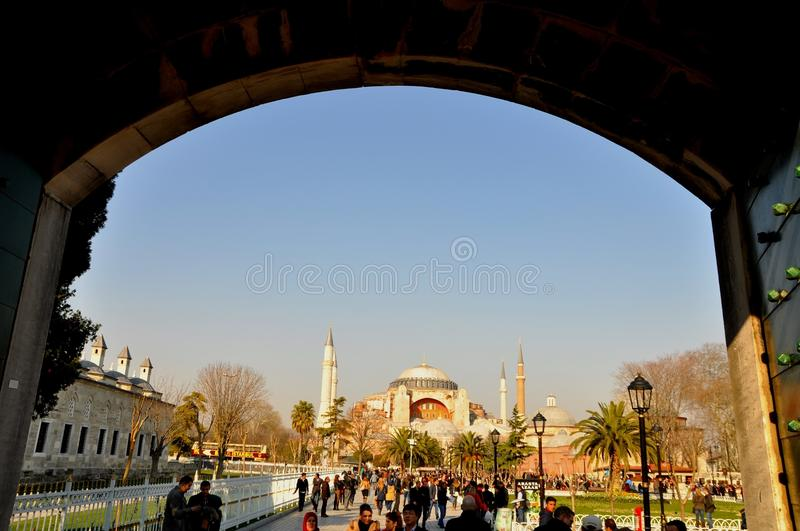 Download Blue Mosque editorial stock image. Image of islam, hagia - 39512349