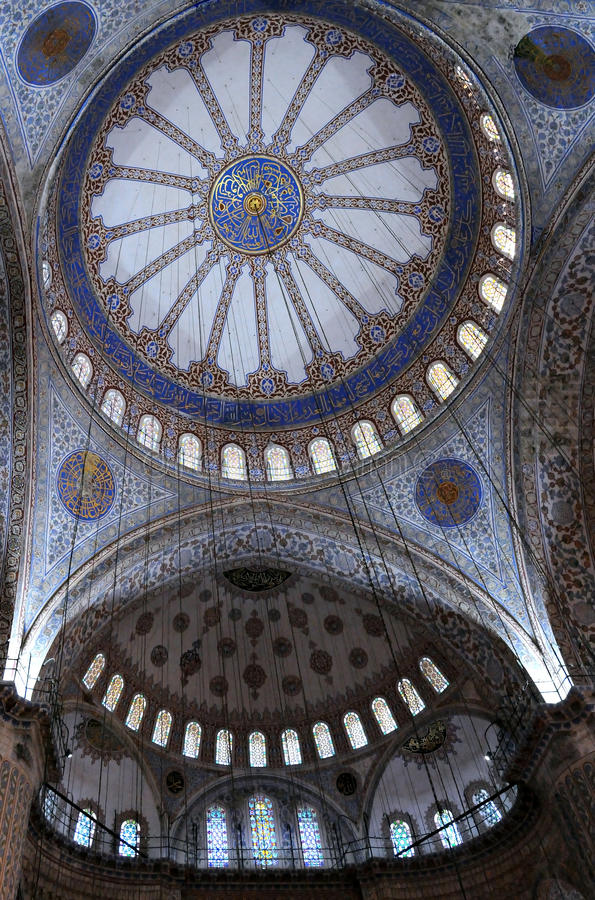 Download Blue Mosque Interior Royalty Free Stock Photography - Image: 26516107