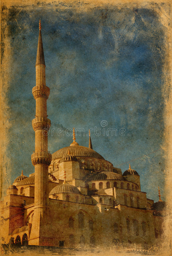 Blue Mosque in Istanbul royalty free stock image