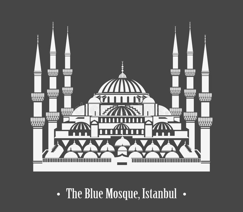 Download The Blue Mosque, Istanbul stock vector. Image of cupola - 27597930