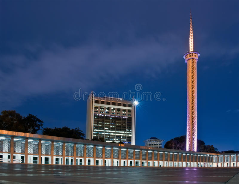 Blue mosque jakarta stock photo