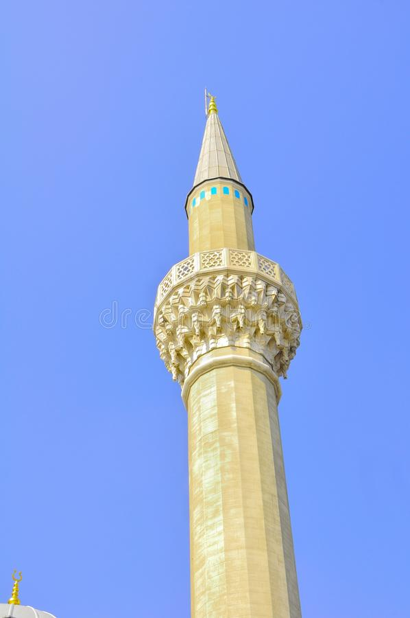 The blue mosque minaret royalty free stock photography