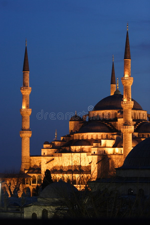 Download Blue Mosque at night stock image. Image of anatolia, blue - 4626307