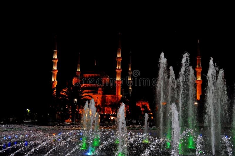 Download Blue Mosque at night stock photo. Image of antique, east - 39513048