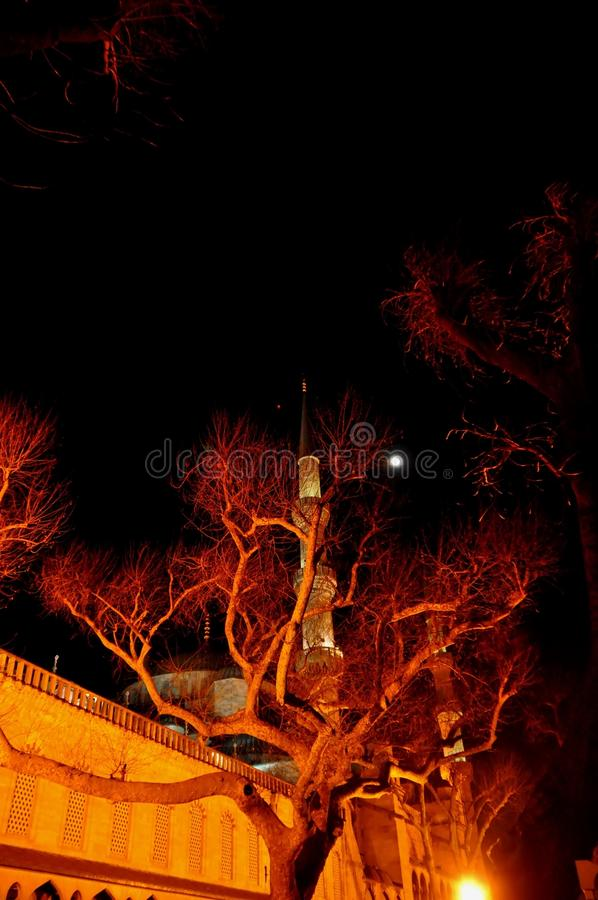 Download Blue Mosque at night stock image. Image of fountain, ancient - 39512465