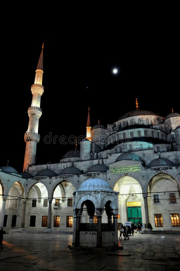 Download Blue Mosque at night editorial photography. Image of asia - 39512512