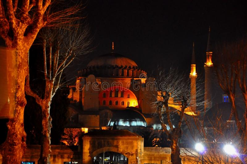 Download Blue Mosque at night editorial stock photo. Image of holy - 39512528