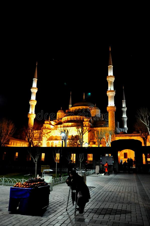 Download Blue Mosque at night editorial photo. Image of basilica - 39512541