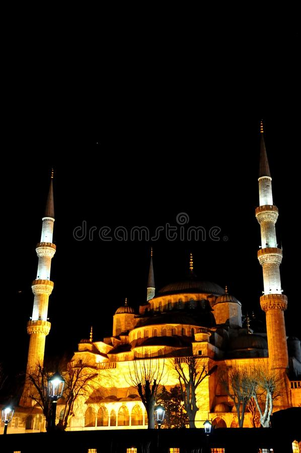 Download Blue Mosque at night stock photo. Image of islam, constantinople - 39512544