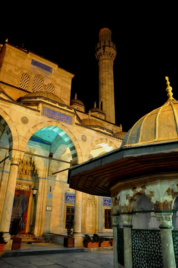 Download Blue Mosque at night stock image. Image of minaret, islam - 39512919
