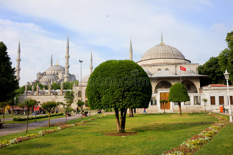 Blue Mosque and Sultan Ahmet I Mausoleum royalty free stock image
