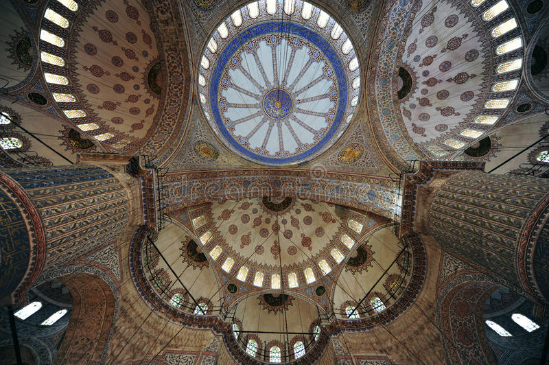 Blue Mosque or Sultanahmet Mosque stock photography