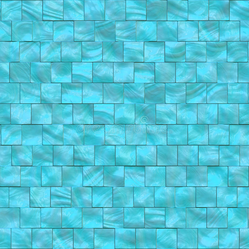 Blue mother of pearls tiles. Background that tiles seamless in all directions stock illustration
