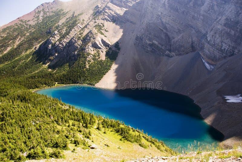Blue mountain lake royalty free stock photography