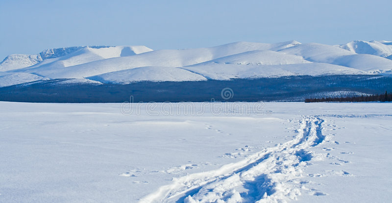 Blue mountain landscape royalty free stock images