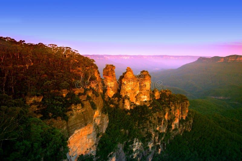 blue mountain nsw australii fotografia stock