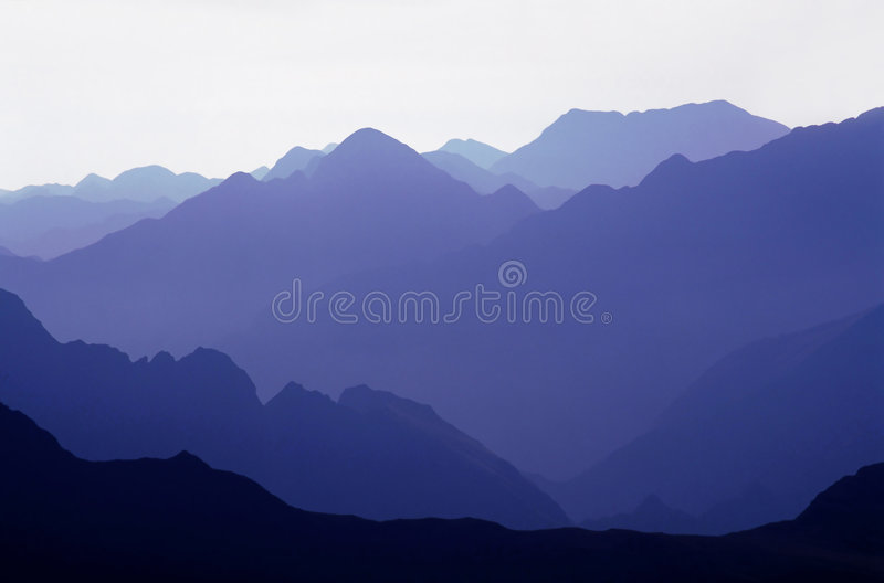 Blue mountains. Fagaras Mountains, Southern Carpathians, Romania royalty free stock images