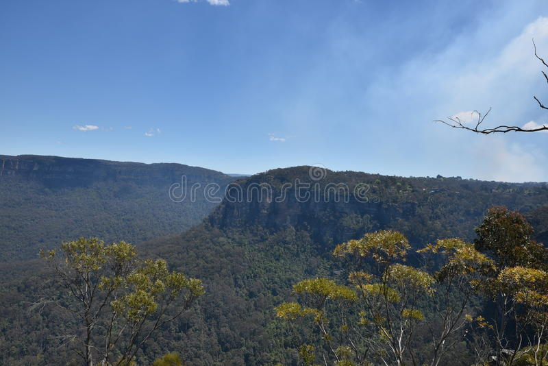 Blue Mountains National Park landscape, NSW, Australia stock photography