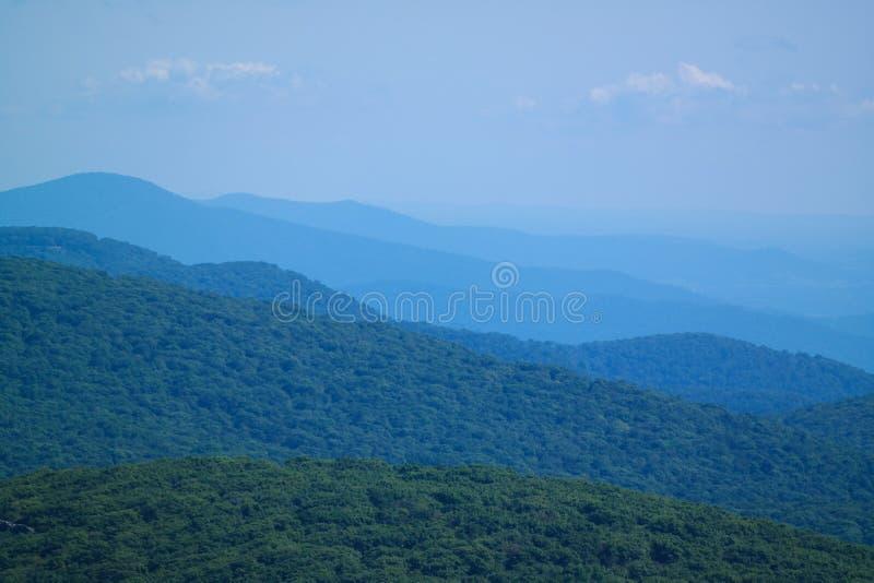 Blue mountains shenandoah virginia. Mountain scape of the beautiful mountains near shenandoah in Virginia United States stock image